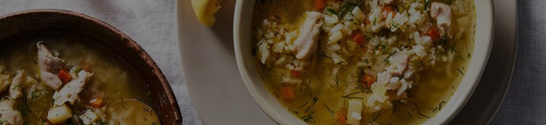 Easy, Lemony Chicken & Rice Soup With Dill - Header